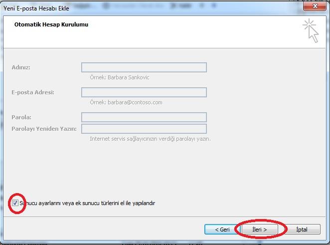 IMAP protokolü, Mail ru: posta programını ayarlama