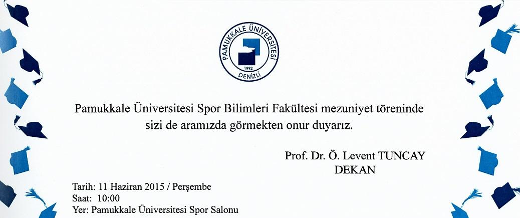 Spor Bilimleri Fakültesi Mezuniyet Töreni